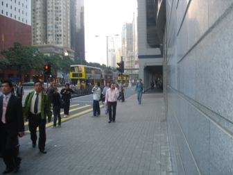 A street scene in Wanchai