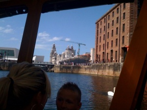 The Albert Dock, Liverpool from the Duckmobile